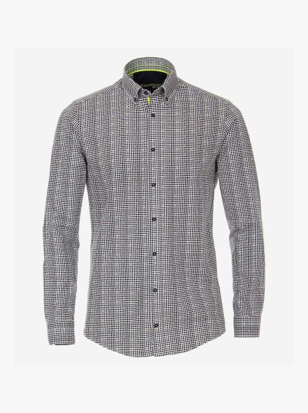 Sneakershirt in Dunkelblau Modern Fit - VENTI