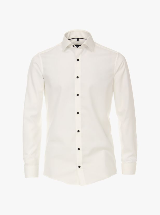 Businesshemd in Ivory Modern Fit - VENTI