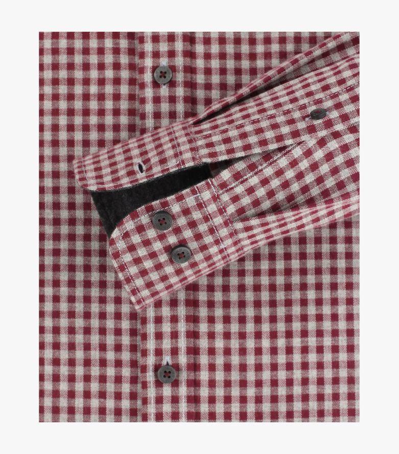 Freizeithemd in Mittelrot Comfort Fit - CASAMODA