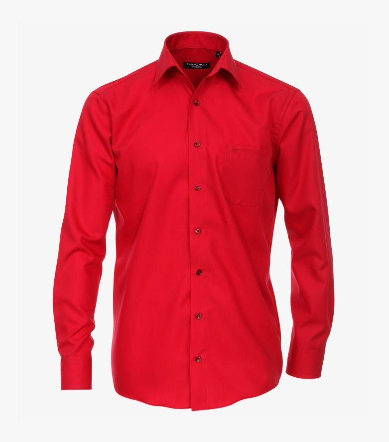 Businesshemd in sattes Rot Comfort Fit - CASAMODA