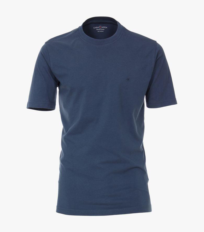 T-Shirt in graues Mittelblau - CASAMODA
