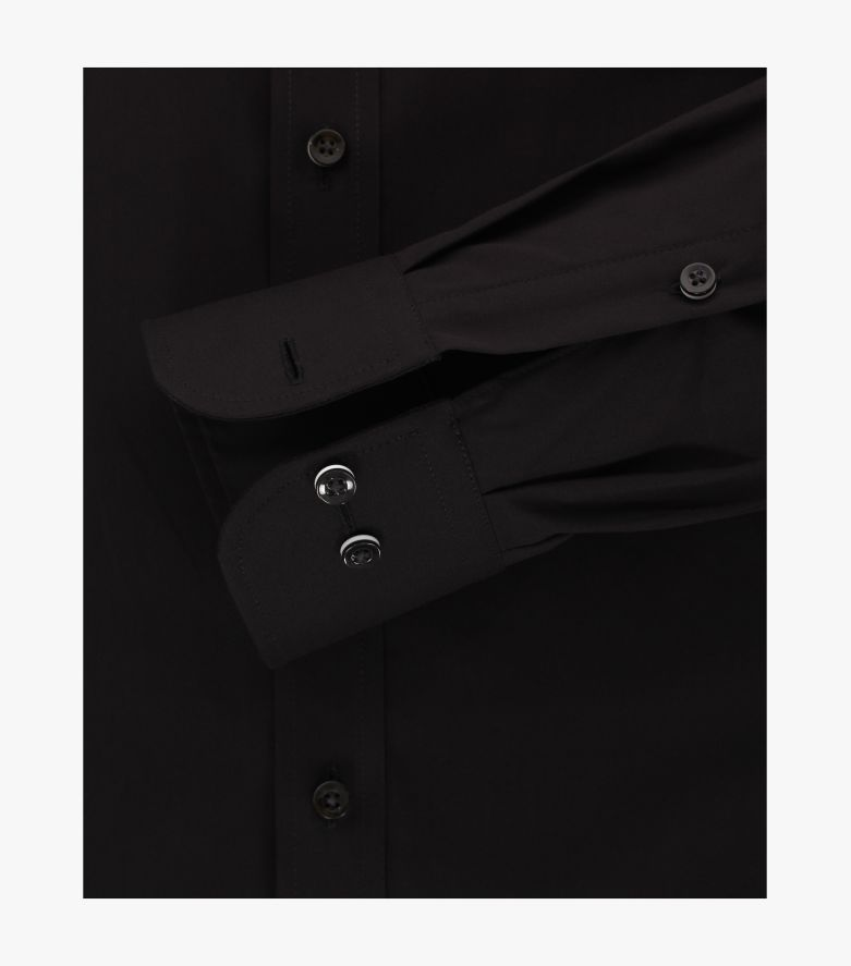 Businesshemd in Schwarz Modern Fit - CASAMODA