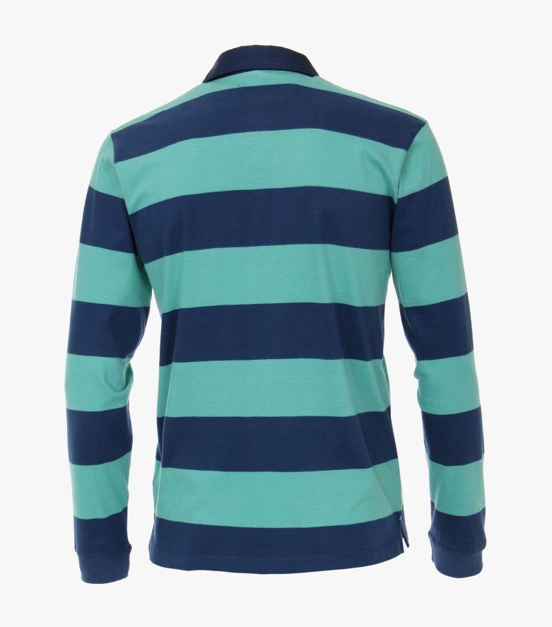 Polo-Shirt Langarm in Grün - CASAMODA