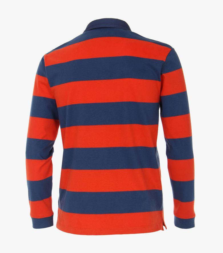 Polo-Shirt Langarm in Orange - CASAMODA