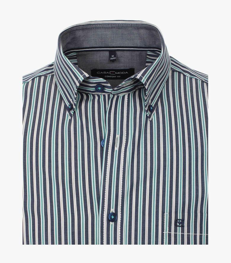 Freizeithemd in Grünblau Comfort Fit - CASAMODA