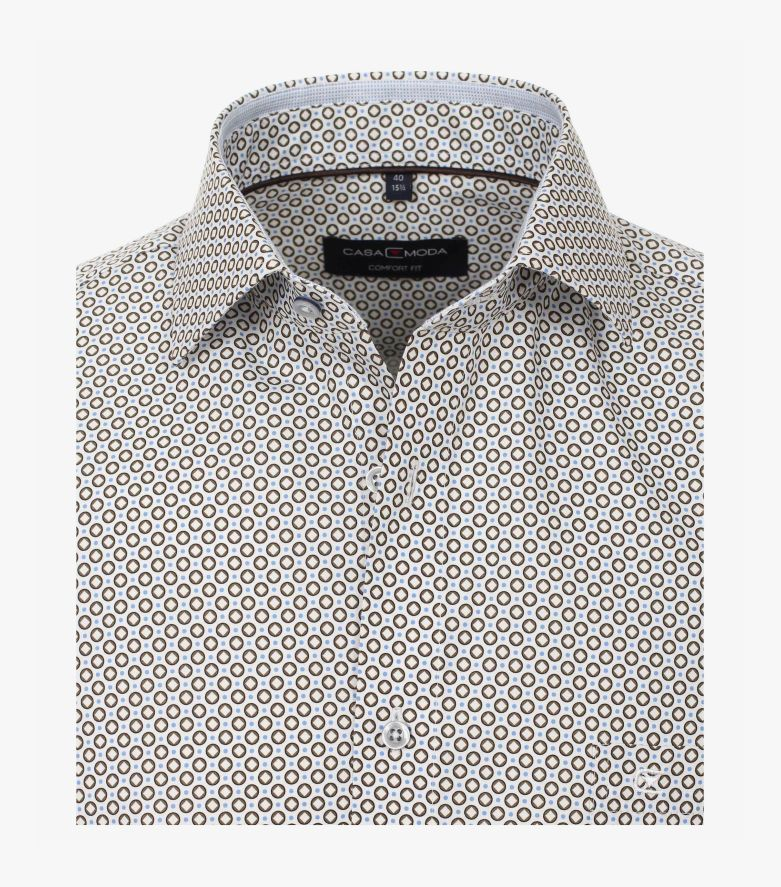 Businesshemd in Braun Comfort Fit - CASAMODA