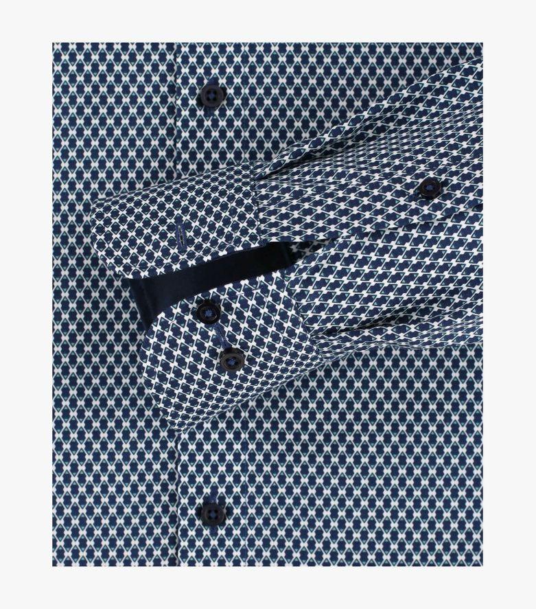 Businesshemd extra langer Arm 72cm in Dunkelblau Comfort Fit - CASAMODA