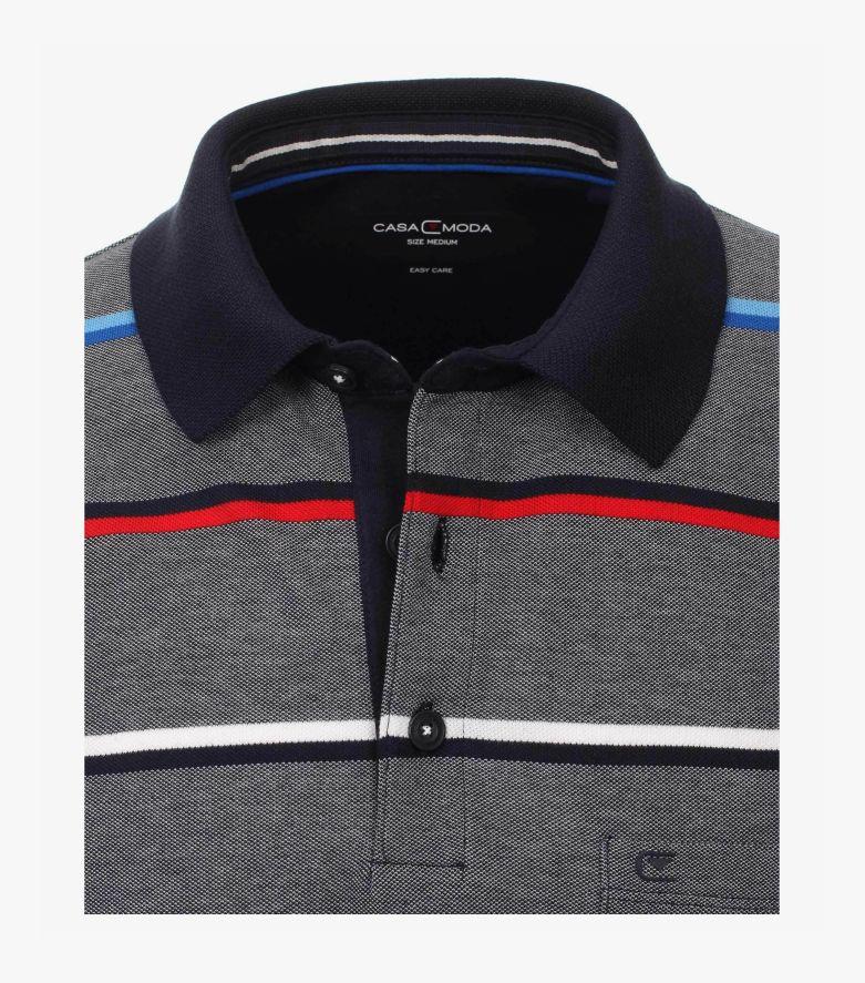 Polo-Shirt in Mittelblau - CASAMODA