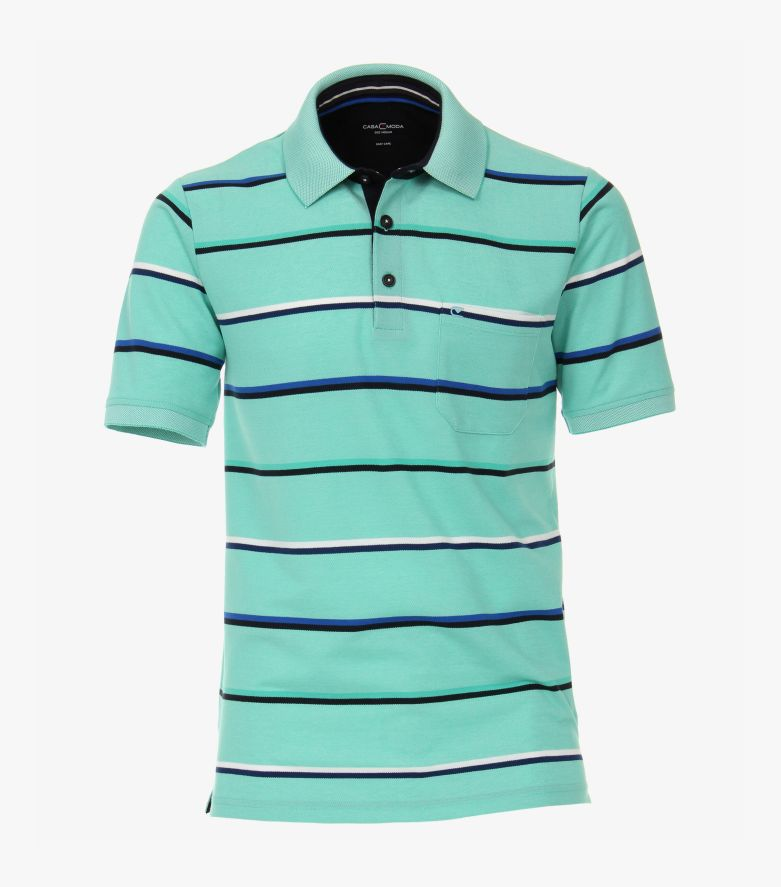 Polo-Shirt in Helltürkis - CASAMODA