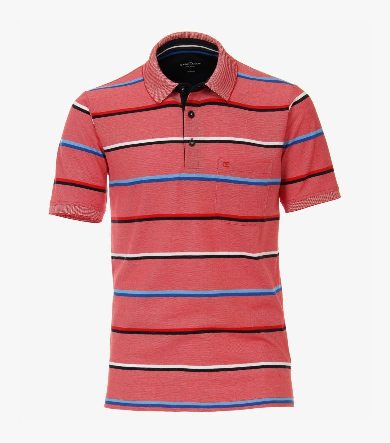 Polo-Shirt in Hellrot - CASAMODA