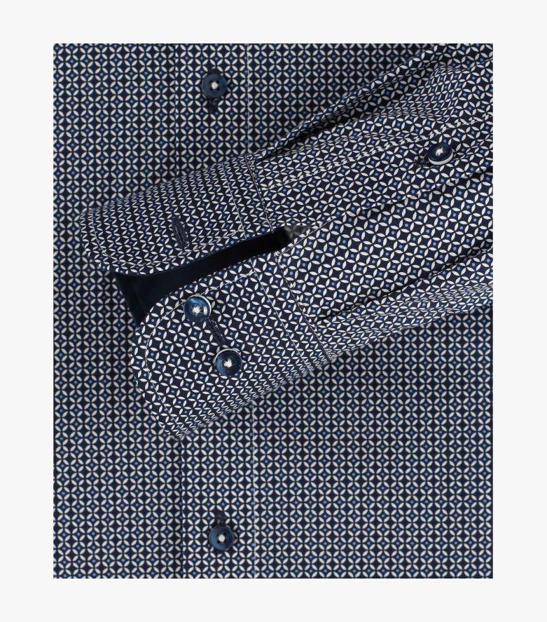 Businesshemd in sattes Dunkelblau Modern Fit - CASAMODA