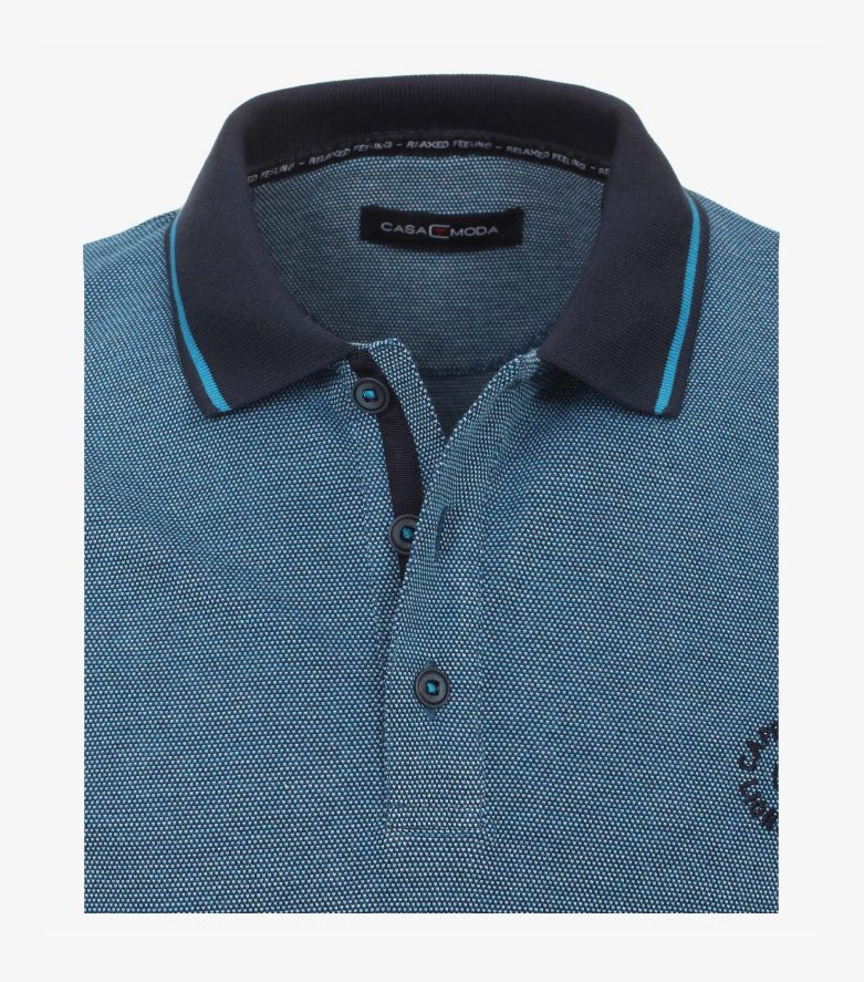 Polo-Shirt in dunkles Türkis - CASAMODA