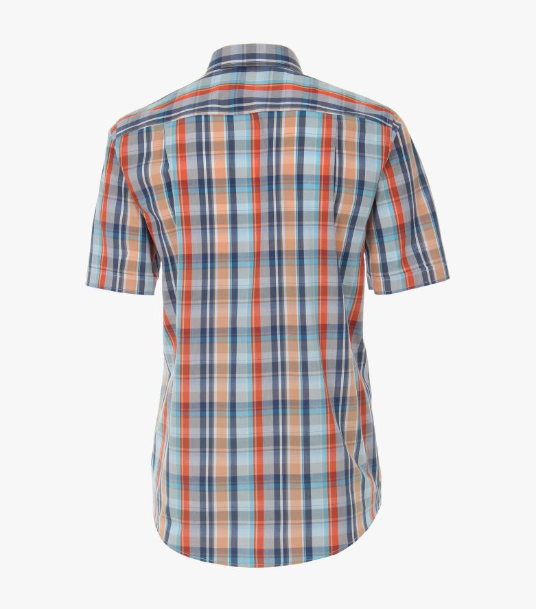 Freizeithemd Kurzarm in Orange Comfort Fit - CASAMODA