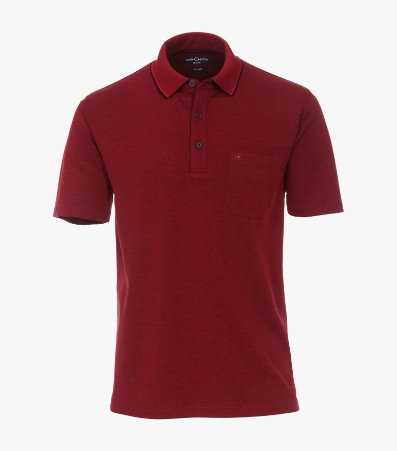 Polo-Shirt in Dunkelrot - CASAMODA