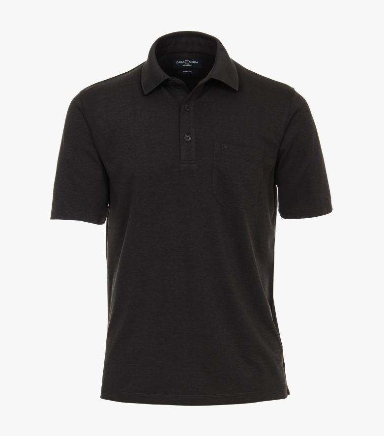 Polo-Shirt in Grauschwarz - CASAMODA