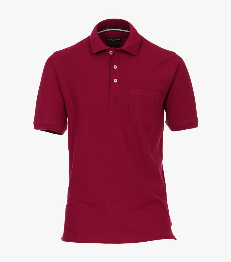 Polo-Shirt in Beere - CASAMODA