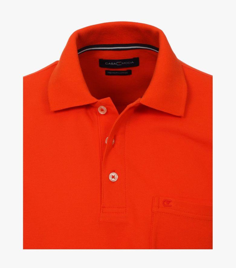 Polo-Shirt in Rotorange - CASAMODA