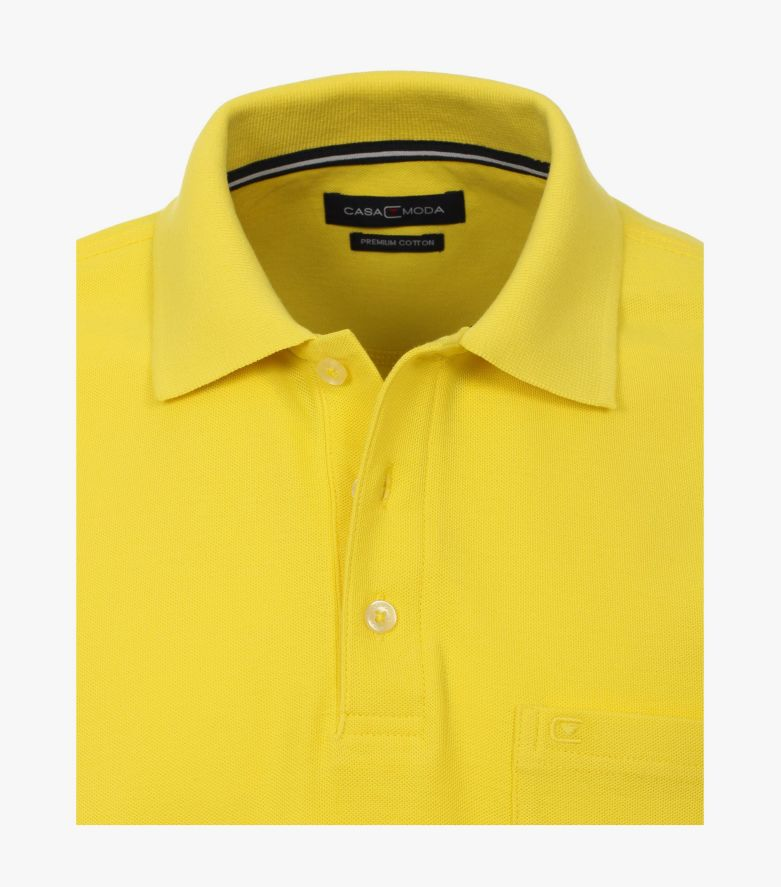 Polo-Shirt in Senfgelb - CASAMODA
