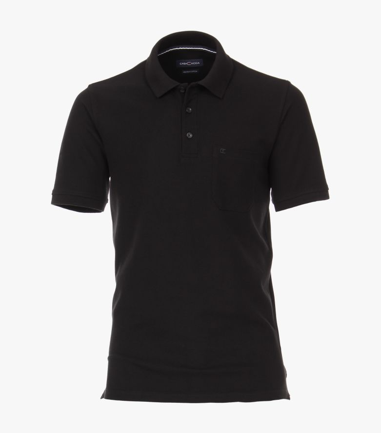 Polo-Shirt in Schwarz - CASAMODA