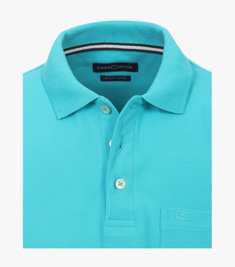 Polo-Shirt in Aquamarine - CASAMODA