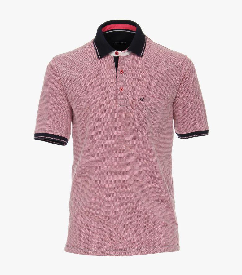 Polo-Shirt in Rosarot - CASAMODA
