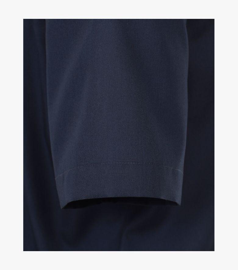 Businesshemd Kurzarm in sattes Dunkelblau Comfort Fit - CASAMODA