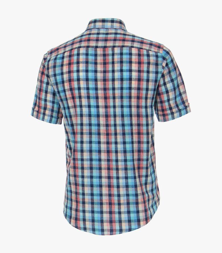 Lenenhemd in Türkis Casual Fit - CASAMODA
