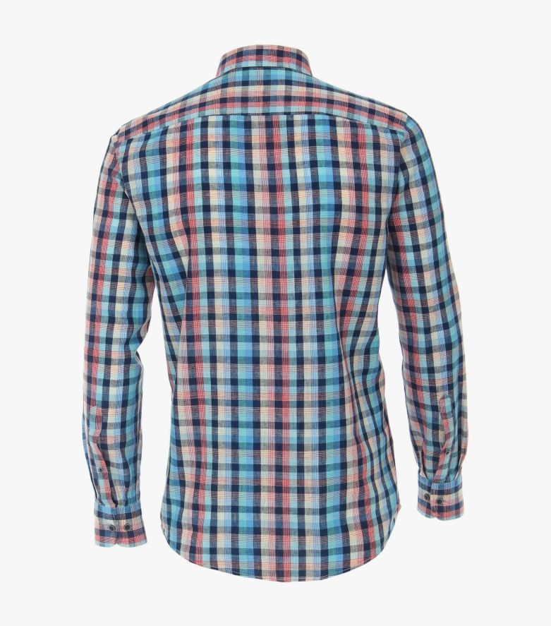 Leinenhemd in Türkis Casual Fit - CASAMODA