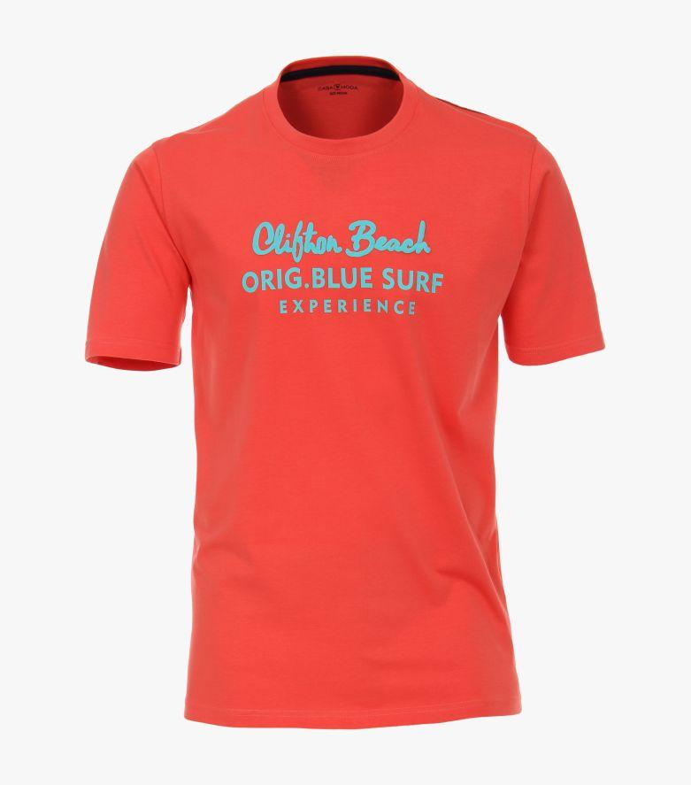 T-Shirt in sattes Rot - CASAMODA