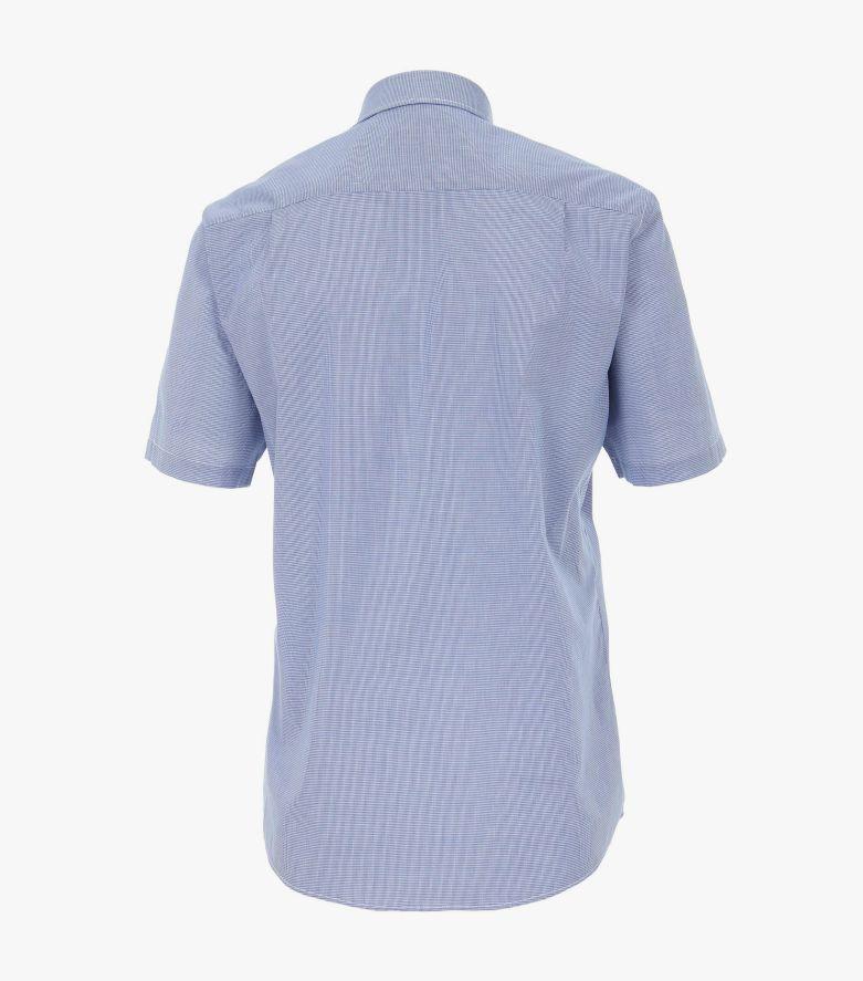 Freizeithemd Kurzarm in mittleres Dunkelblau Comfort Fit - CASAMODA