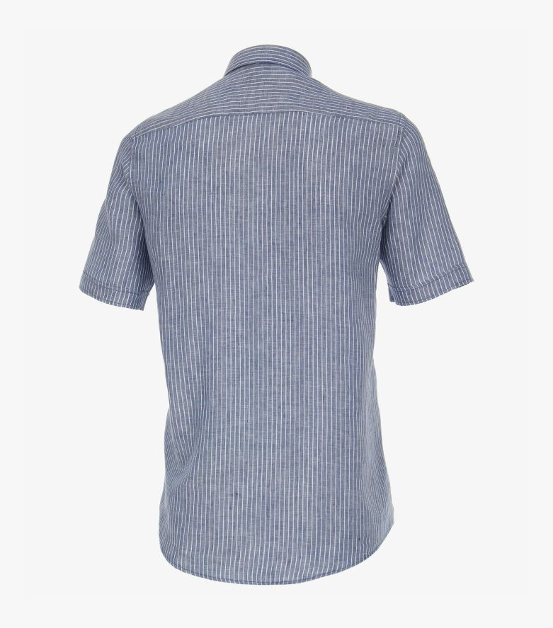 Freizeithemd Kurzarm in Aquadunkelblau Casual Fit - CASAMODA