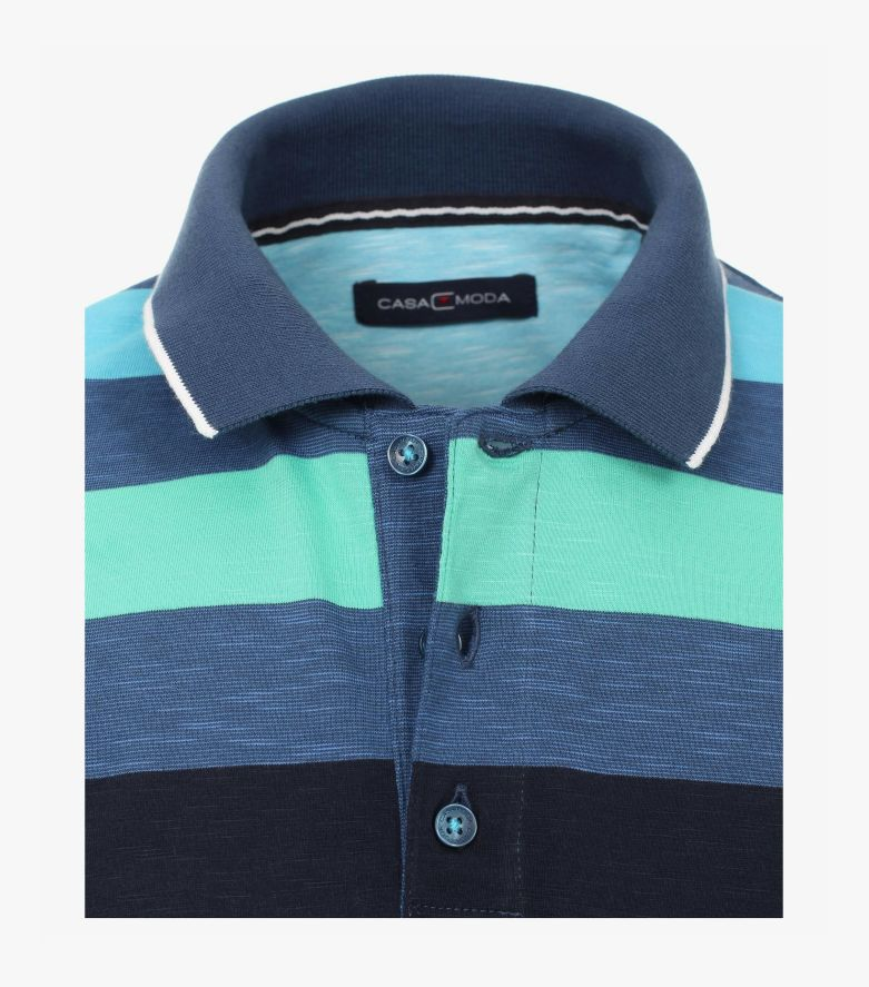 Polo-Shirt in Mittelblau - CASAMODA