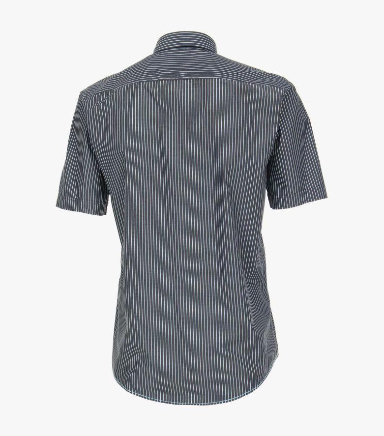 Freizeithemd Kurzarm in Grau Casual Fit - CASAMODA