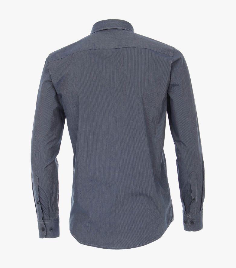 Freizeithemd in graues Mittelblau Casual Fit - CASAMODA
