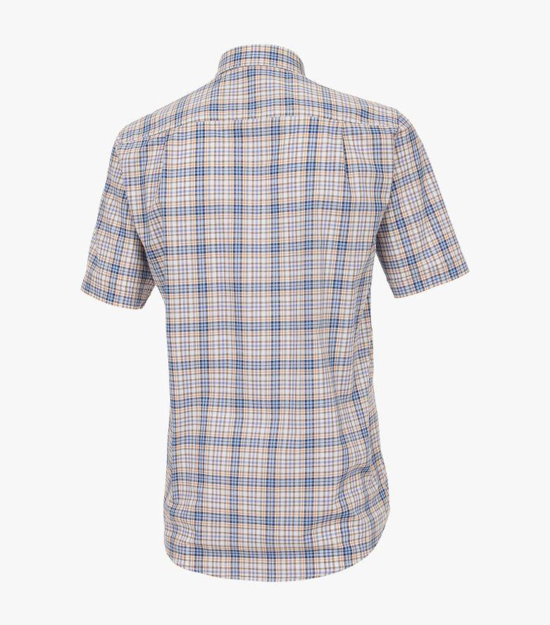 Freizeithemd Kurzarm in Aquadunkelblau Comfort Fit - CASAMODA