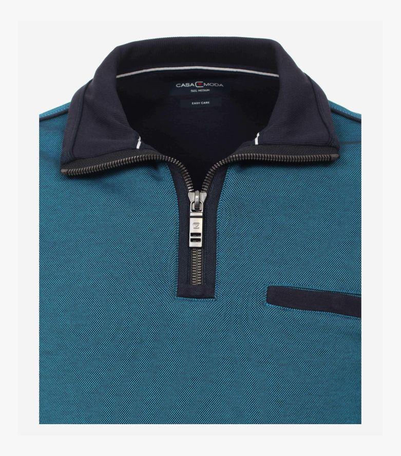 Sweatshirt in Türkisblau - CASAMODA