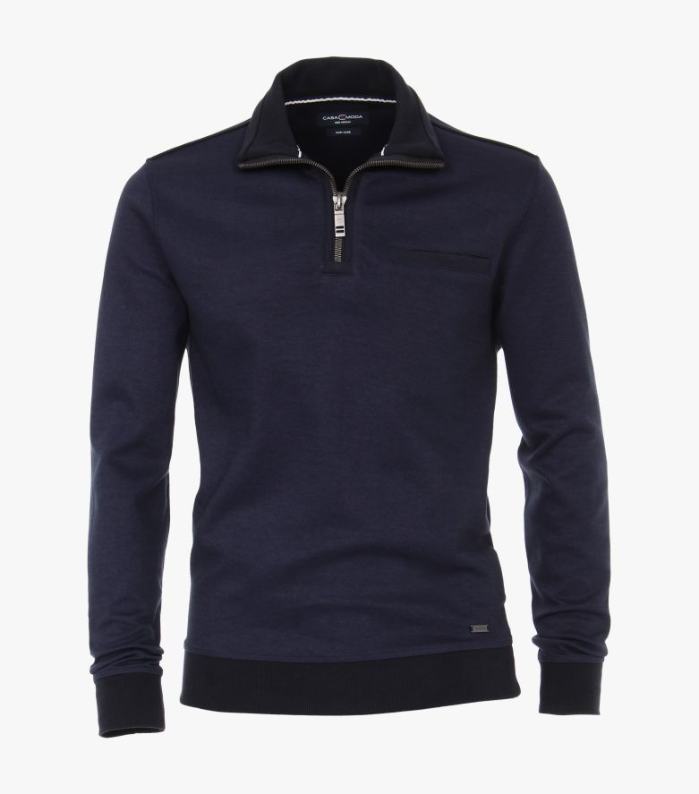 Sweatshirt in Aquadunkelblau - CASAMODA