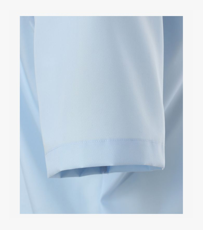Businesshemd Kurzarm in helles Mittelblau Modern Fit - CASAMODA