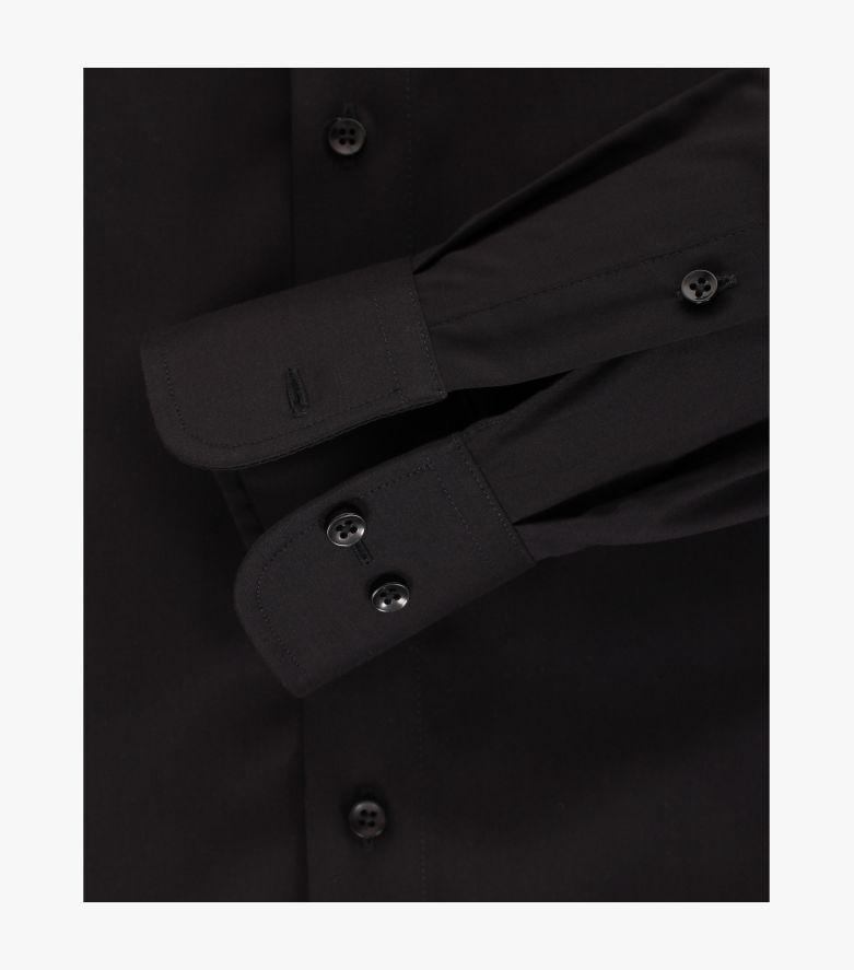 Businesshemd extra langer Arm 72cm in Schwarz Modern Fit - CASAMODA