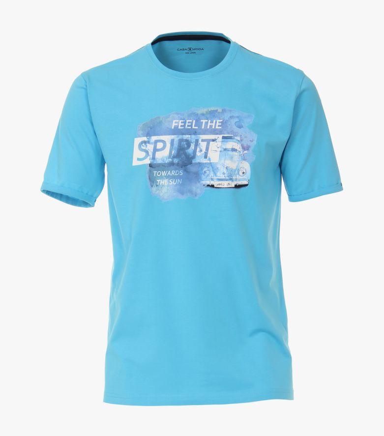 T-Shirt in Mittelblau - CASAMODA
