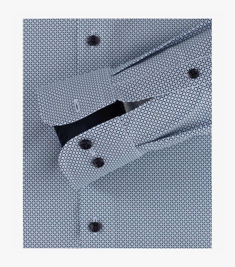 Businesshemd in graues Mittelblau Modern Fit - CASAMODA