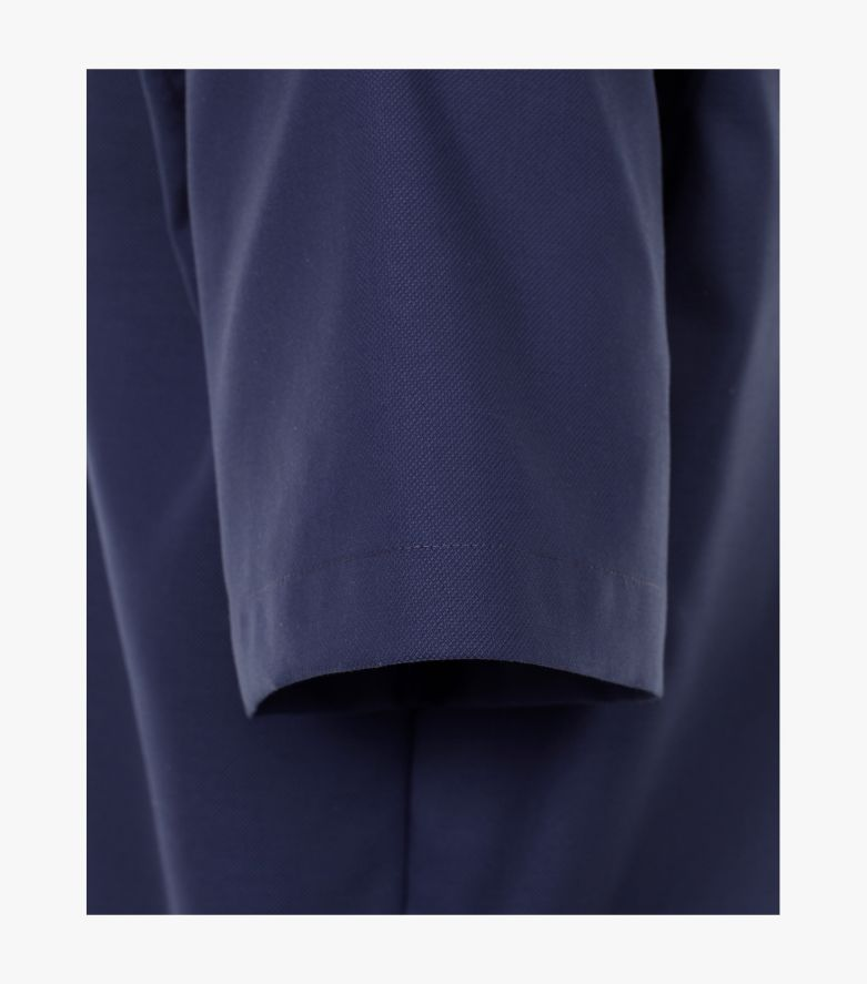Businesshemd Kurzarm in Aquadunkelblau Comfort Fit - CASAMODA