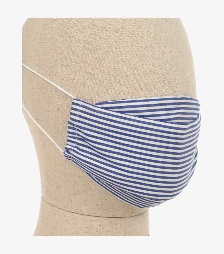 Mund-Nasen-Maske Doppelpack in Mittelblau - CASAMODA