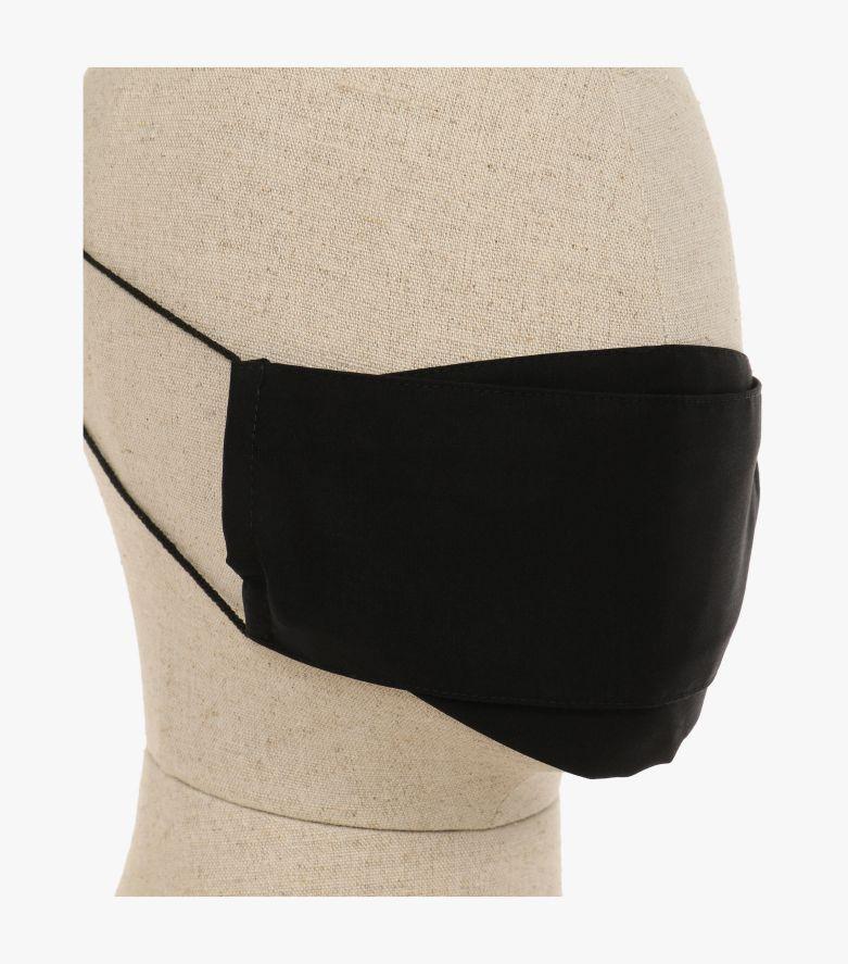 Mund-Nasen-Maske Doppelpack in Tiefschwarz - CASAMODA