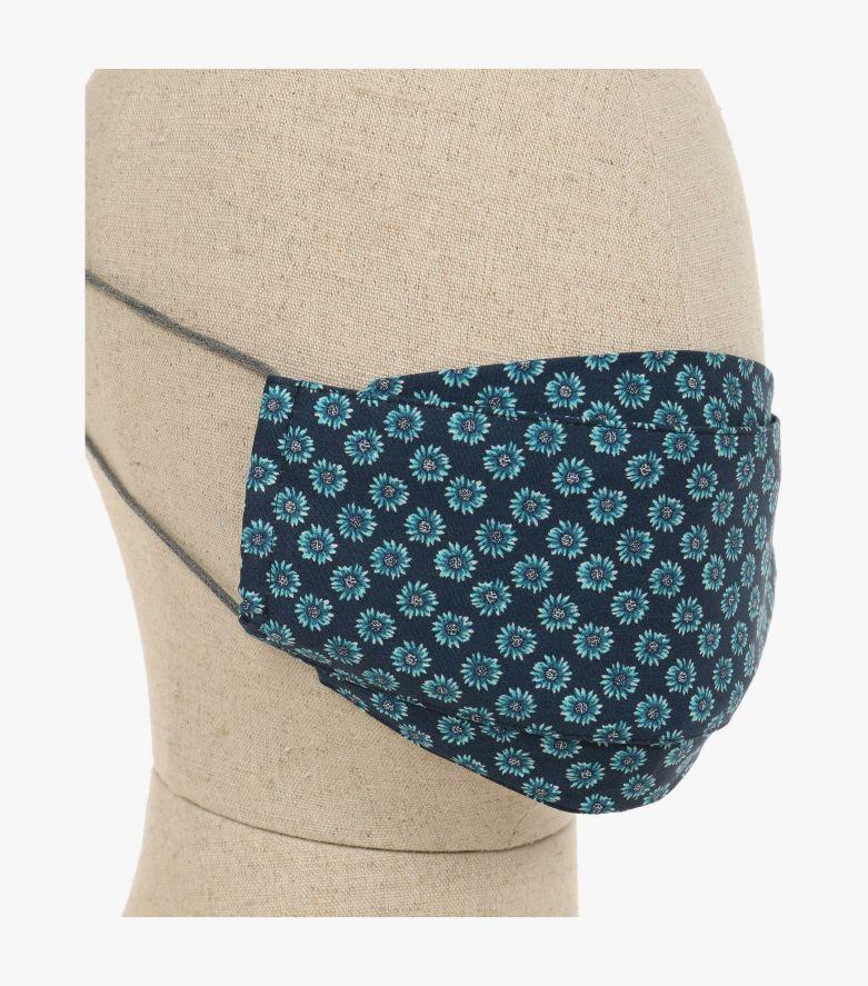 Mund-Nasen-Maske Doppelpack in Blau - CASAMODA