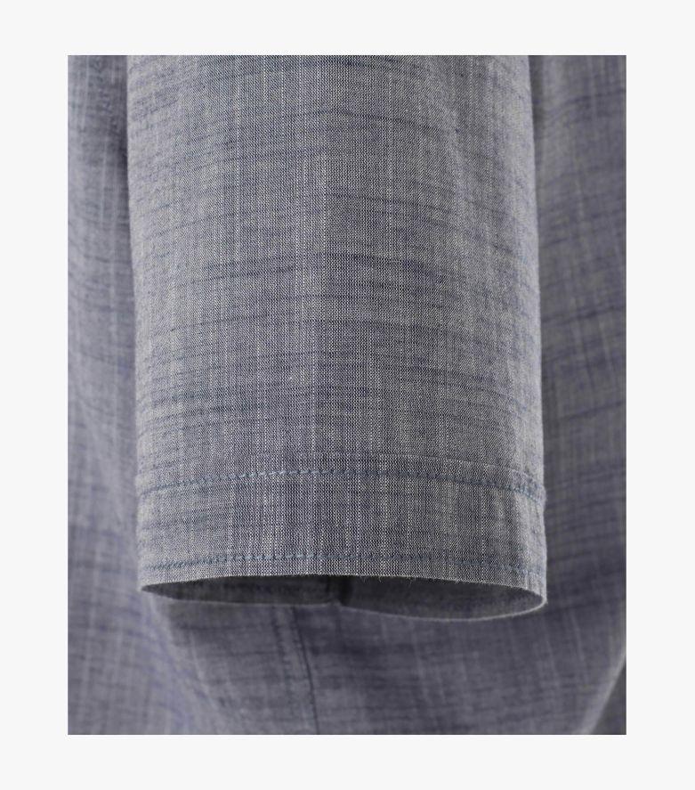 Freizeithemd Kurzarm in graues Dunkelblau Casual Fit - CASAMODA
