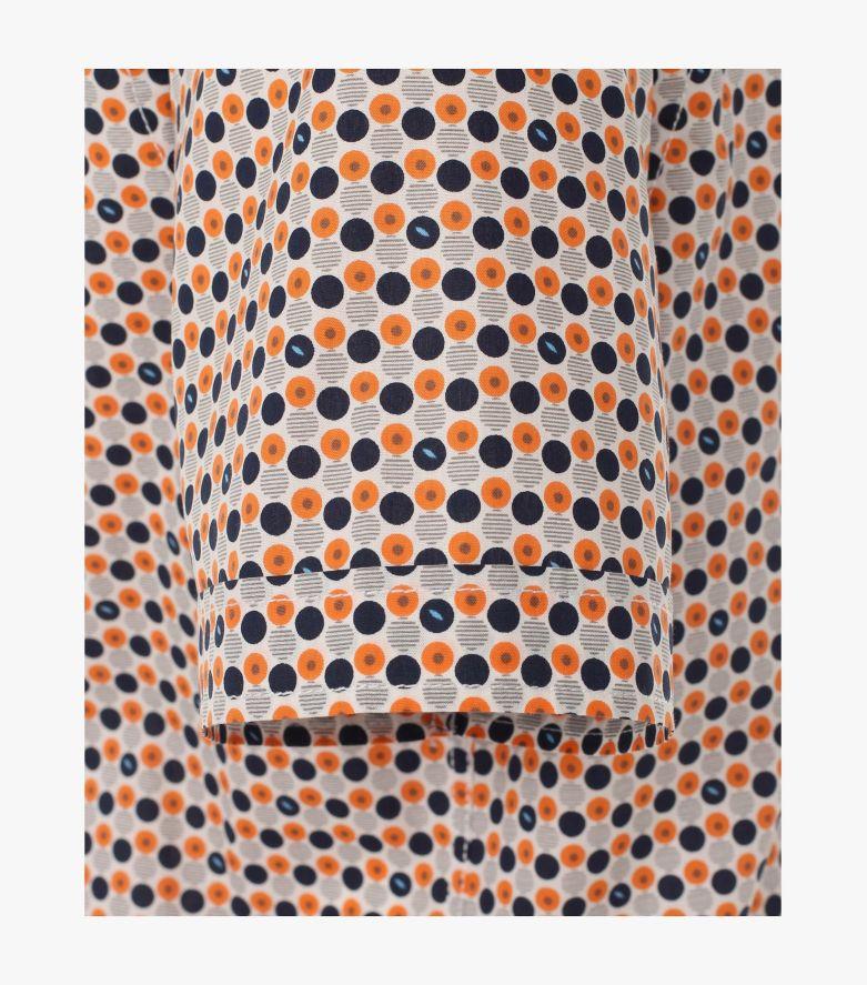 Freizeithemd Kurzarm in Orange Casual Fit - CASAMODA