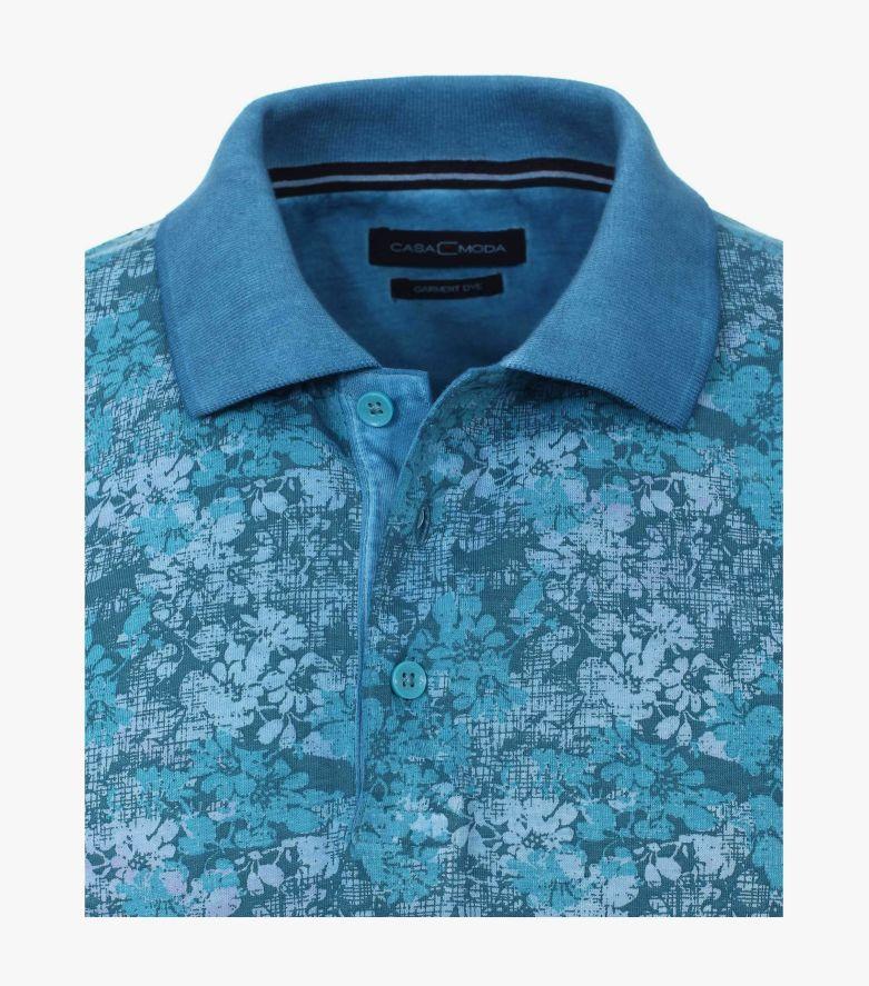 Polo-Shirt in Azurblau - CASAMODA