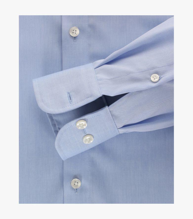 Businesshemd extra langer Arm 69cm in Azurblau Comfort Fit - CASAMODA