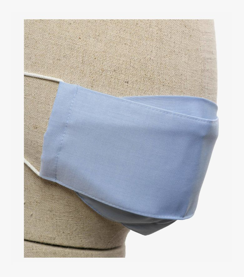 Mund-Nasen-Maske Doppelpack Kinder in Hellblau - CASAMODA